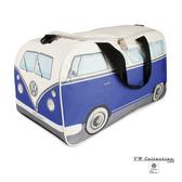 VW Brisa T1 Bus 運動健身包-米黃/藍