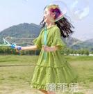 女童連身裙 女童公主裙超洋氣小女孩裙子新款夏裝兒童裙網紅中大童連身裙 韓菲兒