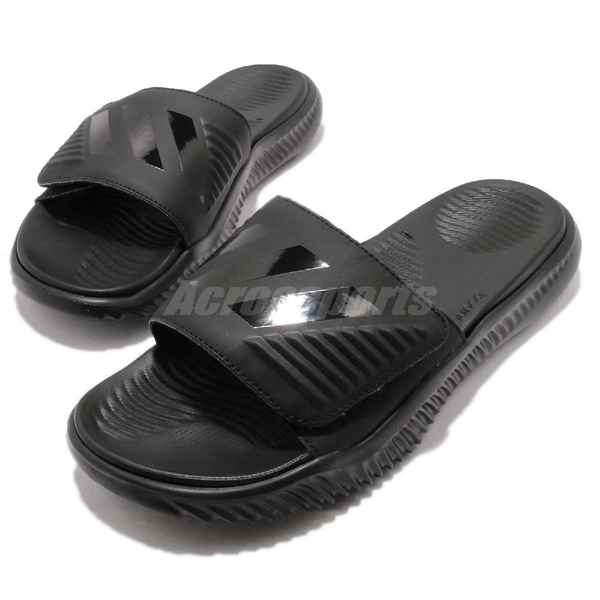 adidas 涼拖鞋 Alphabounce Slide 黑 全黑 男鞋 舒適 回彈中底 涼鞋 運動拖鞋 【ACS】 B41720