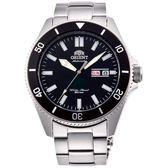 【台南 時代鐘錶 ORIENT】東方錶 RA-AA0008B 兩百米潛水機械錶 黑/銀 44mm 公司貨開發票