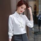 層次波浪柔美OL長袖襯衫[20X287-PF]美之札