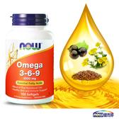 綜合必需脂肪酸 亞米茄3-6-9 (100顆/瓶)-NOW健而婷
