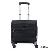 AOU 超輕量防潑水電腦拉桿公事包 旅行箱(黑)26-045
