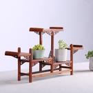 花梨木中式禪意置物架 實木茶葉古董架子 紅木茶壺架小博古架擺件