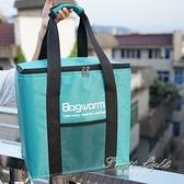現貨保冷袋 20L簡易外賣保溫箱摺疊送餐保溫包大號鋁箔保溫袋冷藏袋保鮮冰包 果果輕時尚