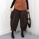 正韓 鬆緊大口袋夾棉燈籠褲 (6361) 預購