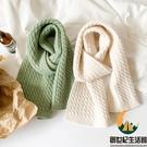 秋冬日系復古百搭針織毛線圍脖小圍巾女【創世紀生活館】