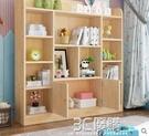 書架 實木書架落地書櫃置物架客廳簡易帶門書櫥小學生收納櫃子特價 3C優購HM