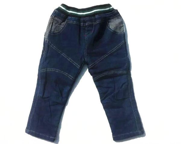 「韓風童品]兒童百搭牛仔褲 男童刷毛保暖牛仔褲長褲  兒童牛仔褲