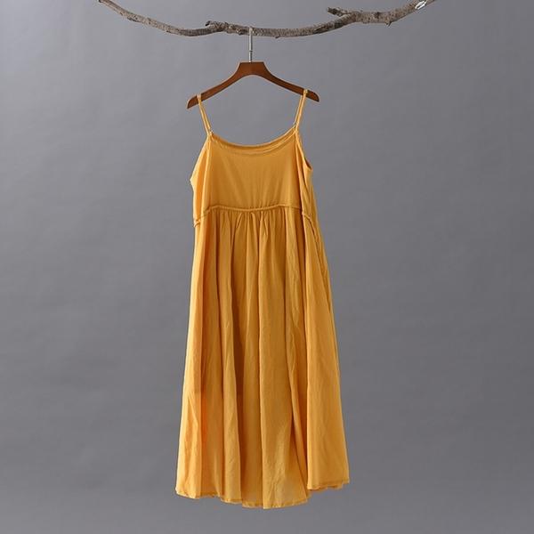 特惠 白色吊帶連衣裙女夏季仙女超仙外穿長款紫色純棉裙子大裙擺沙灘裙