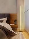 北歐極簡ins落地燈線條地燈輕奢客廳創意牆角燈床頭立式氛圍台燈 夢幻小鎮