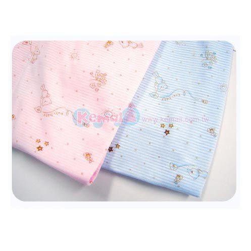 【奇買親子購物網】KUKI BIRD 可愛熊印花短袖套裝(藍)