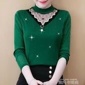 2020秋冬長袖打底衫新款韓版上衣女加絨T恤網紗洋氣保暖加厚小衫 依凡卡時尚