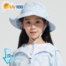 UV100 防曬 抗UV-涼感輕巧印花漁夫帽-童
