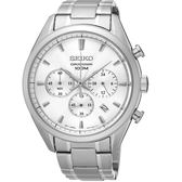 SEIKO 精工CS紳仕典雅男仕腕錶/白/42mm/8T63-00C0S/SSB221P1