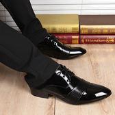 男士皮鞋正韓尖頭英倫男鞋新品潮流春季商務正裝婚鞋休閒鞋子【快速出貨82折優惠】
