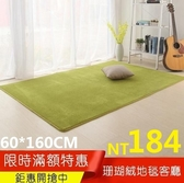 珊瑚絨地毯客廳茶幾沙發家用房間臥室床邊滿鋪榻榻米簡約現代地毯虧本60*160公分【全館免運】