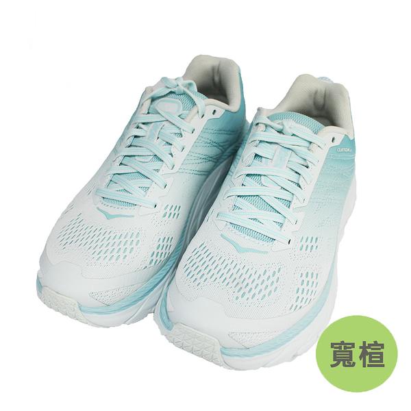 (B1) Hoka One One 女 Clifton 6 超緩震慢跑鞋 寬楦 運動鞋 HO1102877ASWB 島沙蒼藍 [陽光樂活]