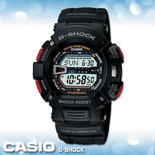 CASIO手錶專賣店 卡西歐 G-SHOCK G-9000-1V 電子錶 MUDMAN泥人系列 防塵防泥設計