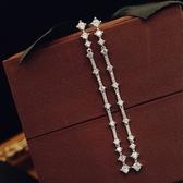 耳環 925純銀鑲鑽-個性流蘇生日情人節禮物女耳飾73du33【時尚巴黎】