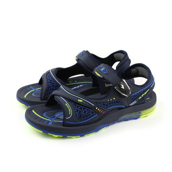 GP (Gold.Pigon) 阿亮代言 涼鞋 防水 雨天 藍色 男鞋 G7678M-20 no806