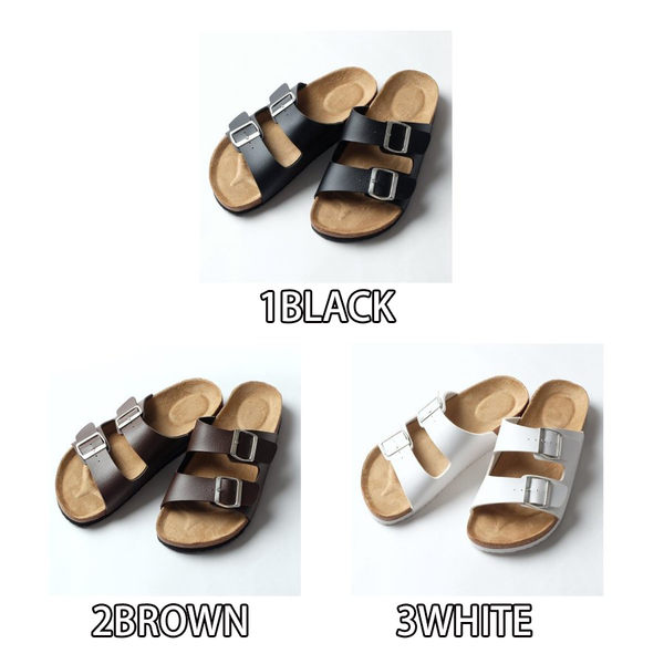 涼鞋 雙帶扣涼鞋 3色