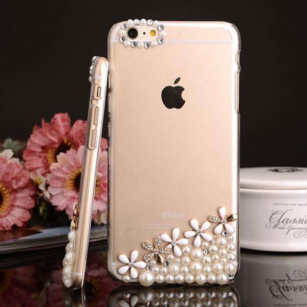 三星 S8 S9 Note8 Note5 A8Star A8 A6+ J4 J6 J7+ J7Pro J2Pro J3 S7 Edge J2Prime 手機殼 水鑽殼 訂做 五瓣珍珠花