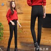 黑色打底褲女外穿高腰薄款韓版百搭加長小腳鉛筆褲子 伊鞋本鋪
