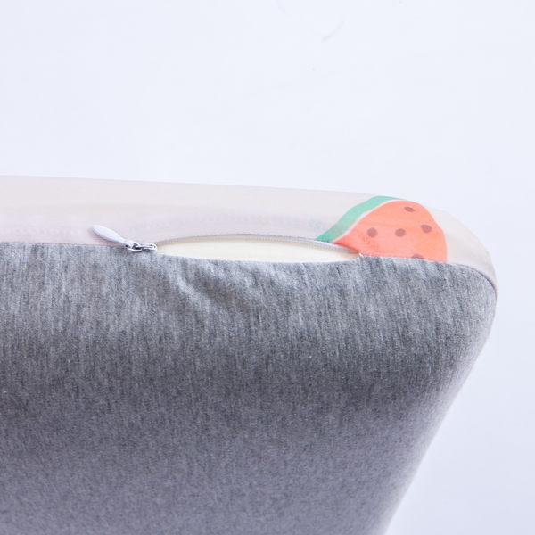 西瓜甜涼感低反彈枕-灰-生活工場