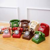 電話機存錢罐創意儲蓄罐大號儲錢塑料透明防摔兒童禮物卡通紙硬幣 概念3C旗艦店
