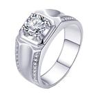 莫桑鑽戒指-925純銀-1ct廝守終生對...