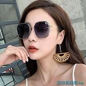 2021年新款ins墨鏡女偏光太陽眼鏡GM韓版潮圓臉防紫外線大臉顯瘦 快速出貨