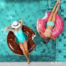 游泳圈大人火烈鳥網紅加厚初學者救生圈成人充氣坐騎坐圈兒童泳圈 aj9146『科炫3C』