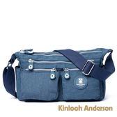 金安德森 OUTDOOR 雙口袋斜側包 藍色