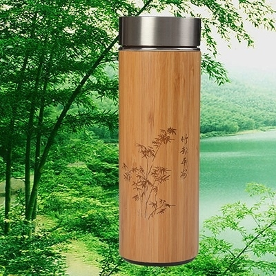 紫砂保溫瓶-磁化養身楠竹商務隨身攜帶保溫杯2款71f4【時尚巴黎】