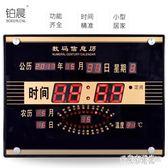 LED數碼萬年歷電子掛鐘客廳創意靜音電子鐘表日歷鐘表夜光 DN17190『東京潮流』TW