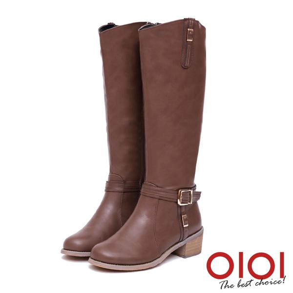 長靴 魅力焦點皮帶釦率性長筒靴(咖) *0101shoes【18-1705co】【現貨】