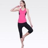 瑜珈服套裝含健身衣+運動褲-短款運動背心速幹透氣網狀舒適女運動服8色69n20【時尚巴黎】