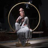 自在觀音陶瓷擺件佛像家居工藝品紫砂開光觀世音菩薩風水玄關供奉促銷大降價!