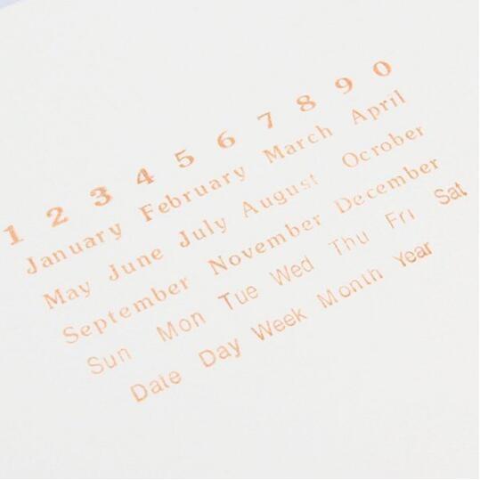 【BlueCat】眼鏡娃娃車信封年月日透明矽膠印章