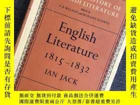 二手書博民逛書店罕見English Literature 1815-1832Y3