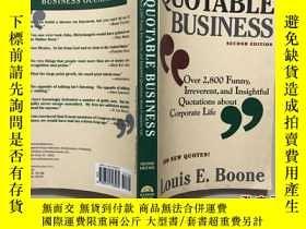 二手書博民逛書店QUOTABLE罕見BUSINESS Over 2,800 Fu