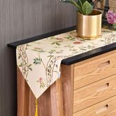 美式田園桌旗布歐式餐桌布藝輕奢北歐茶幾桌布中間長條電視柜蓋巾