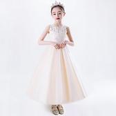 女童禮服 女童洋裝春夏兒童公主裙夏裝小女孩洋氣禮服紗裙12歲長款裙子-Ballet朵朵