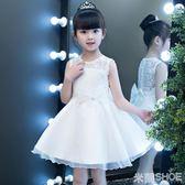 花童禮服 連身裙正韓兒童洋氣蓬蓬公主裙子