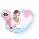 嬰兒洗澡盆新生兒加大加厚可坐躺通用寶寶用品數字感溫浴盆 〖korea時尚記〗