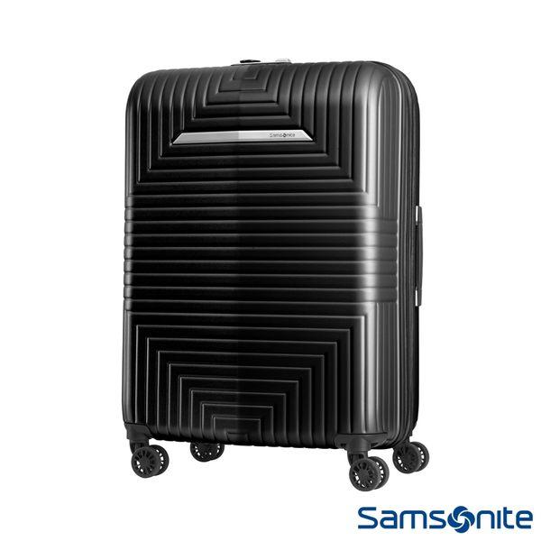 Samsonite新秀麗 24吋D200 幾何圖形可擴充硬殼行李箱(黑)