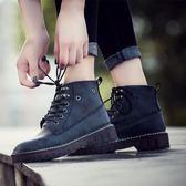 韓版時尚馬丁靴英倫風高幫短靴牛筋底機車靴女鞋