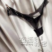 歐美丁字褲女士黑色性感情趣誘惑超透明露毛騷夜店火辣低腰T褲 衣櫥秘密