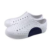 native JEFFERSON BLOCK 休閒鞋 洞洞鞋 白/藍 男女鞋 11100102-8920 no996